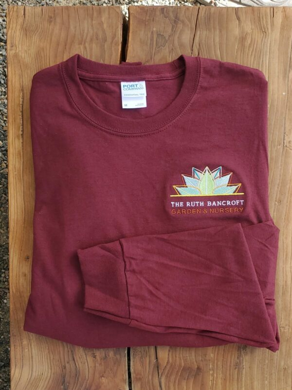 long sleeve logo embroidered t-shirt Maroon