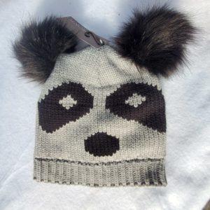 panda hat grey