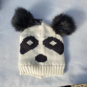 Panda hat - white