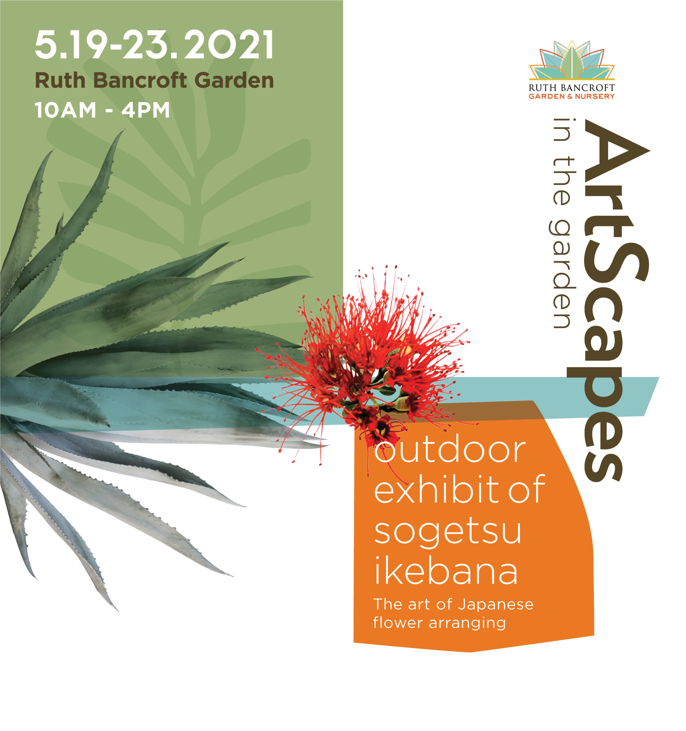 Artscapes in the Garden - Ikebana exhibit logo