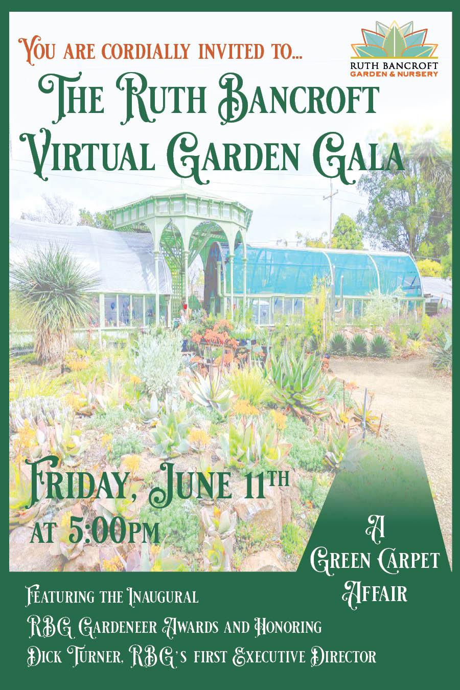 Garden gala 2021 logo and card