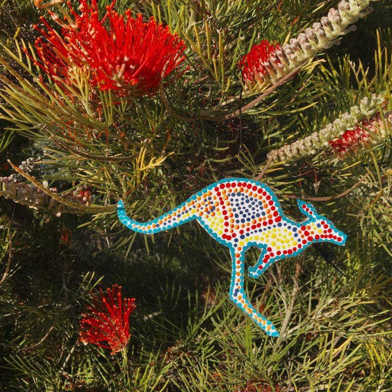 plant with kangaroo ornament