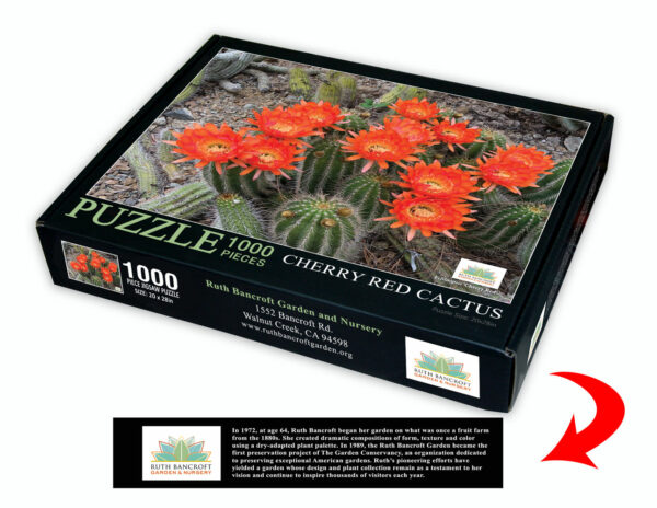 Cherry red cactus jigsaw puzzle