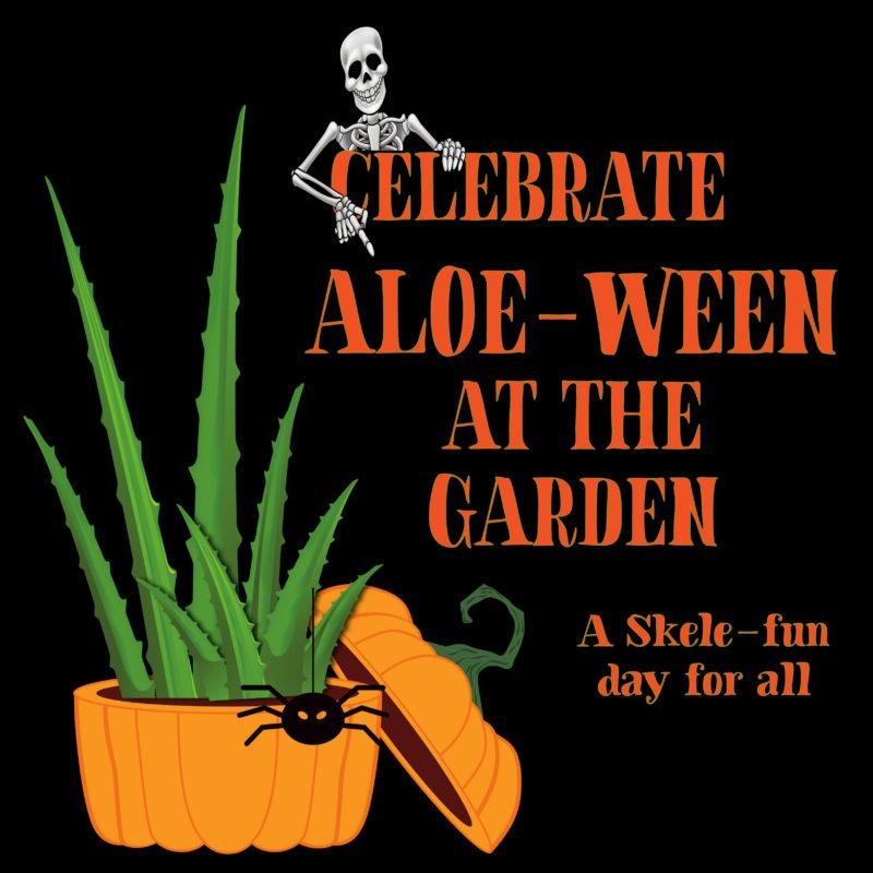 Aloe-ween event logo