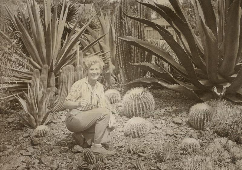 black and white photo of Ruth Bancroft circa 1972